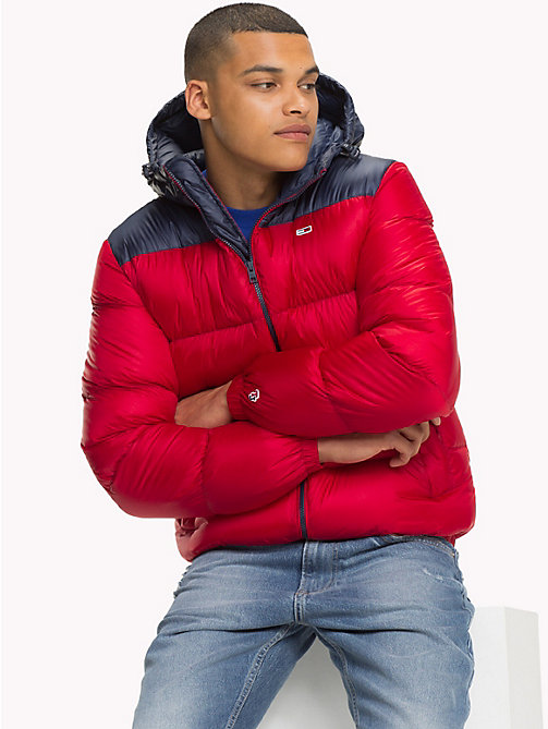 TOMMY JEANS Tommy Classics Puffer-Jacke - SAMBA / BLACK IRIS - TOMMY JEANS Sustainable Evolution - main image