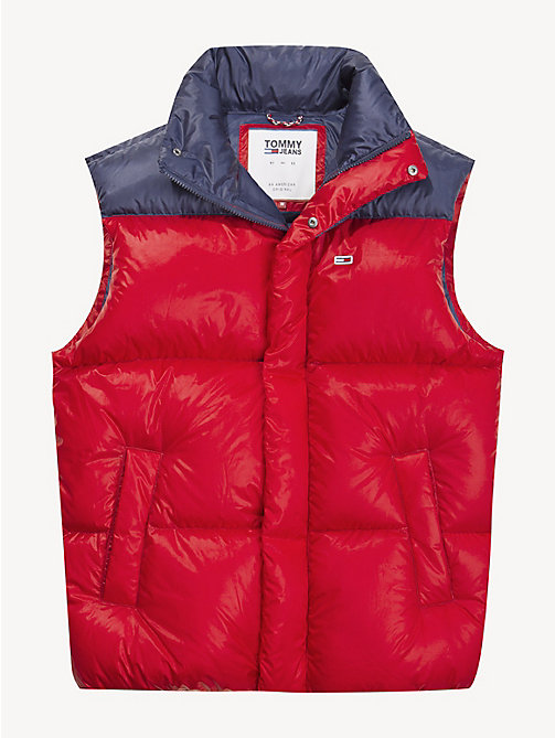 TOMMY JEANS Tommy Classics Padded Gilet - SAMBA / BLACK IRIS - TOMMY JEANS Sustainable Evolution - detail image 1