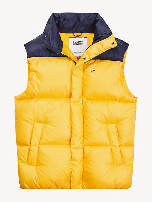 TOMMY JEANS Gilet imbottito Tommy Classics - SPECTRA YELLOW / BLACK IRIS - TOMMY JEANS Sustainable Evolution - dettaglio immagine 1