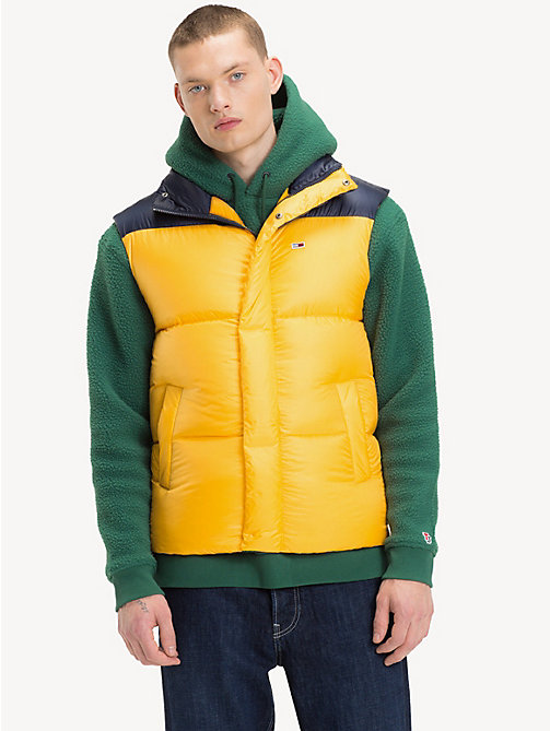 TOMMY JEANS Tommy Classics Padded Gilet - SPECTRA YELLOW / BLACK IRIS - TOMMY JEANS Sustainable Evolution - main image