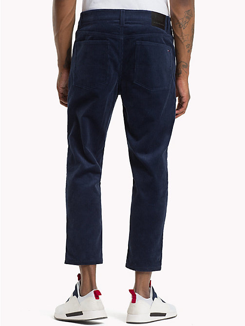 TOMMY JEANS Corduroy Ankle Length Trousers - BLACK IRIS - TOMMY JEANS Trousers & Shorts - detail image 1