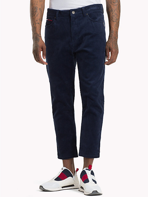 TOMMY JEANS Corduroy Ankle Length Trousers - BLACK IRIS - TOMMY JEANS Trousers & Shorts - main image