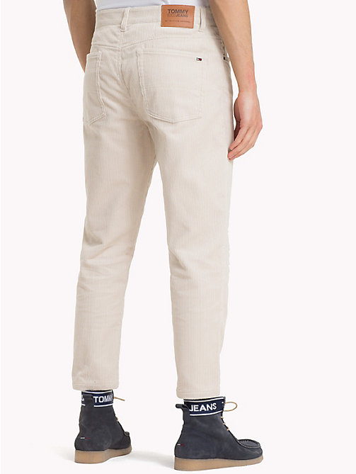 TOMMY JEANS Corduroy Ankle Length Trousers - PUMICE STONE - TOMMY JEANS Trousers & Shorts - detail image 1