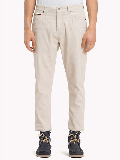 TOMMY JEANS Corduroy Ankle Length Trousers - PUMICE STONE - TOMMY JEANS Trousers & Shorts - main image