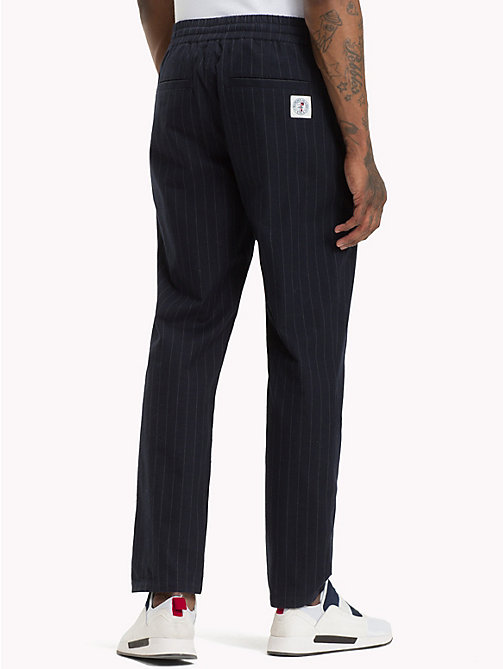 TOMMY JEANS Pinstripe Chino Jogging Bottoms - BLACK IRIS - TOMMY JEANS Trousers & Shorts - detail image 1