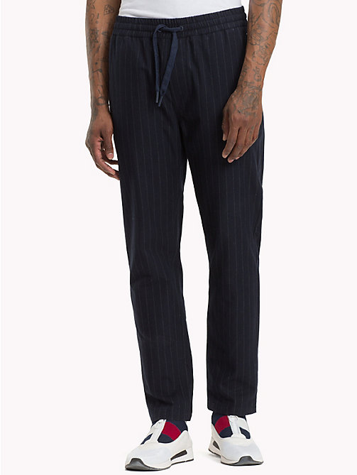TOMMY JEANS Pinstripe Chino Jogging Bottoms - BLACK IRIS - TOMMY JEANS Black Friday Men - main image