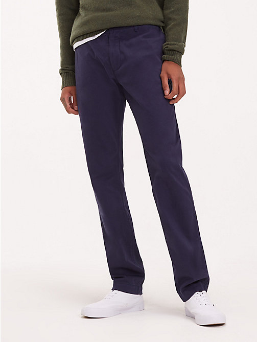 TOMMY JEANS Essential Slim Fit Chinos - BLACK IRIS - TOMMY JEANS Trousers & Shorts - main image