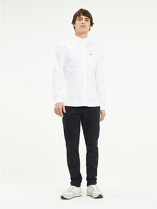 TOMMY JEANS Slim Fit Chinos - TOMMY BLACK - TOMMY JEANS Trousers & Shorts - main image