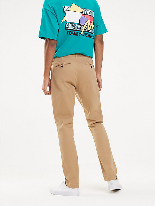 TOMMY JEANS Slim Fit Chinos - TIGER'S EYE - TOMMY JEANS Trousers & Shorts - detail image 1