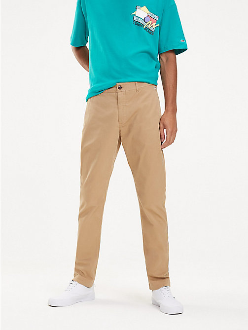 TOMMY JEANS Slim Fit Chinos - TIGER'S EYE - TOMMY JEANS Trousers & Shorts - main image
