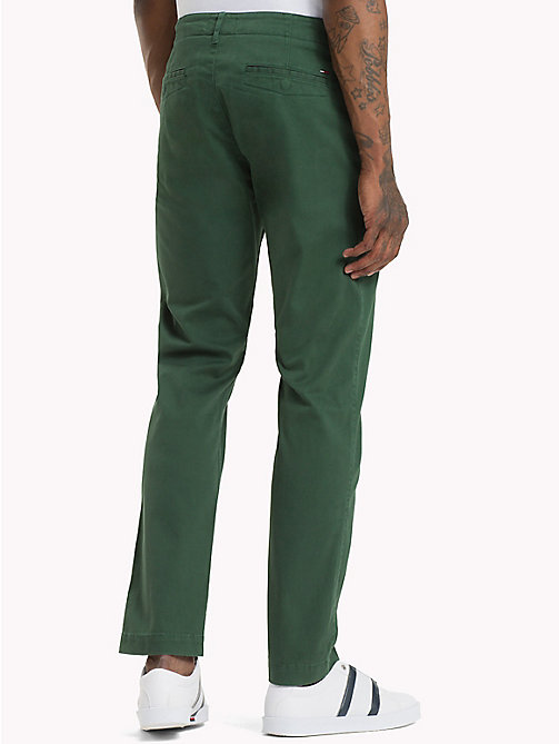 TOMMY JEANS Essential Slim Fit Chinos - HUNTER GREEN - TOMMY JEANS Trousers & Shorts - detail image 1