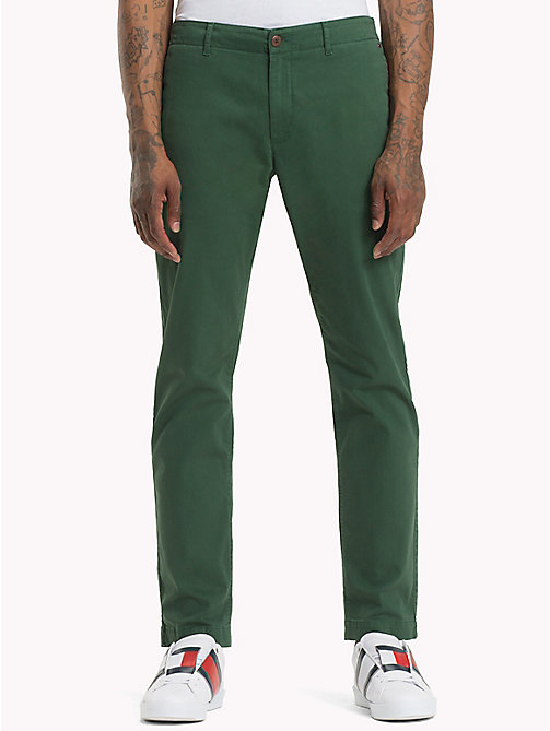 TOMMY JEANS Essential Slim Fit Chinos - HUNTER GREEN - TOMMY JEANS Trousers & Shorts - main image
