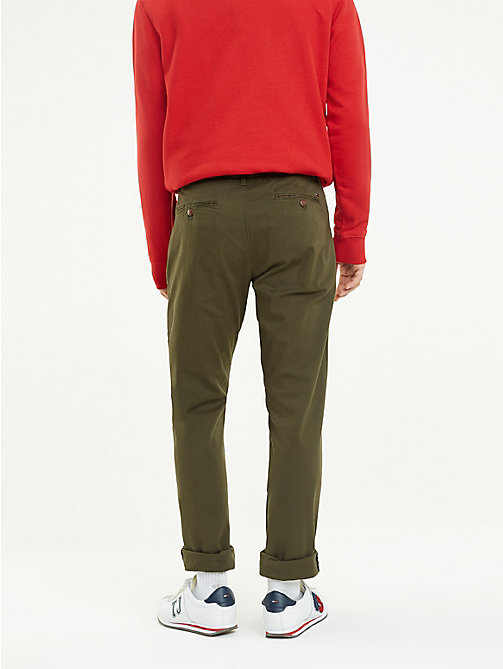 TOMMY JEANS Slim Fit Chinos - FOREST NIGHT - TOMMY JEANS Trousers & Shorts - detail image 1