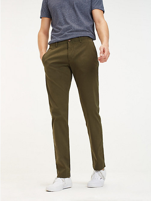 TOMMY JEANS Slim Fit Chinos - FOREST NIGHT - TOMMY JEANS Trousers & Shorts - main image