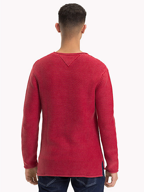 TOMMY JEANS Combed Cotton Crew Neck Jumper - SAMBA - TOMMY JEANS Knitwear - detail image 1