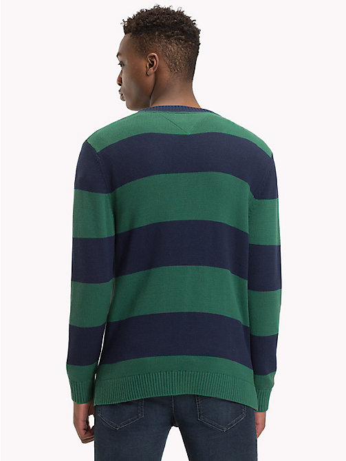 TOMMY JEANS Tommy Classics' Stripe Jumper - HUNTER GREEN/BLACK IRIS - TOMMY JEANS Tommy Classics - detail image 1