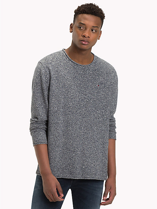TOMMY JEANS Essential Relaxed Fit Jumper - BLACK IRIS - TOMMY JEANS Knitwear - main image