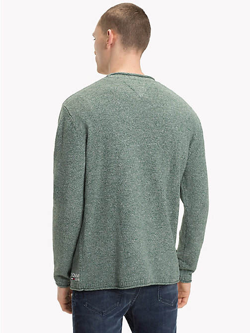 TOMMY JEANS Essential Relaxed Fit Jumper - HUNTER GREEN - TOMMY JEANS Knitwear - detail image 1