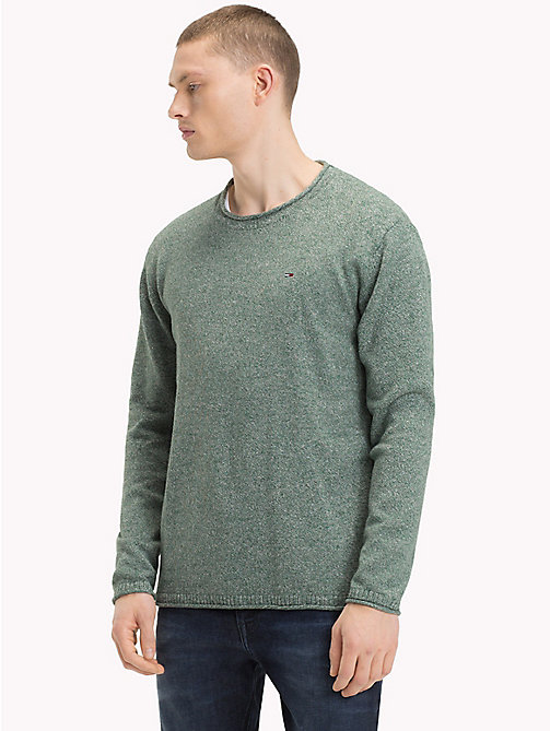 TOMMY JEANS Essential Relaxed Fit Pullover - HUNTER GREEN - TOMMY JEANS Pullover - main image