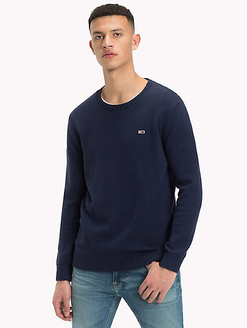 TOMMY JEANS Tommy Classics Knitted Jumper - BLACK IRIS - TOMMY JEANS Tommy Classics - detail image 1