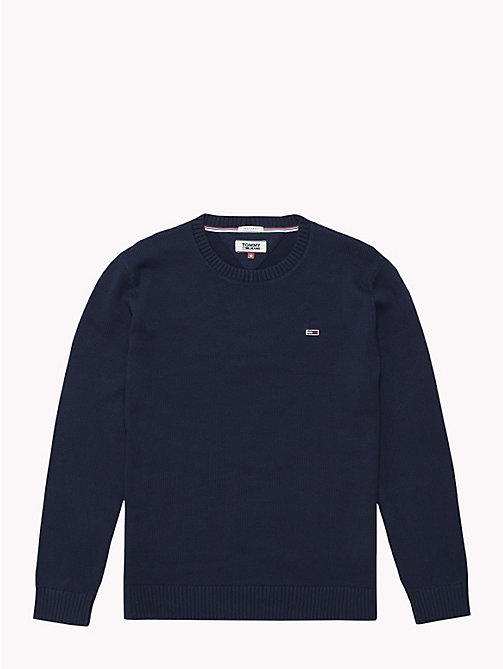 TOMMY JEANS Tommy Classics Knitted Jumper - BLACK IRIS - TOMMY JEANS Sweatshirts & Knitwear - detail image 1