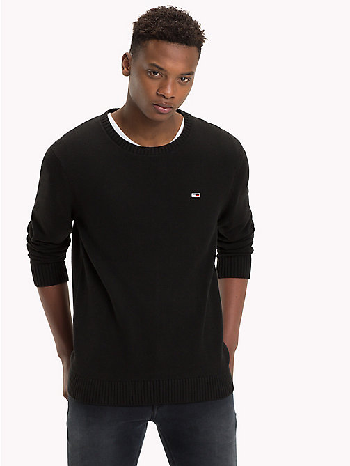 TOMMY JEANS Tommy Classics Knitted Jumper - TOMMY BLACK - TOMMY JEANS Tommy Classics - detail image 1