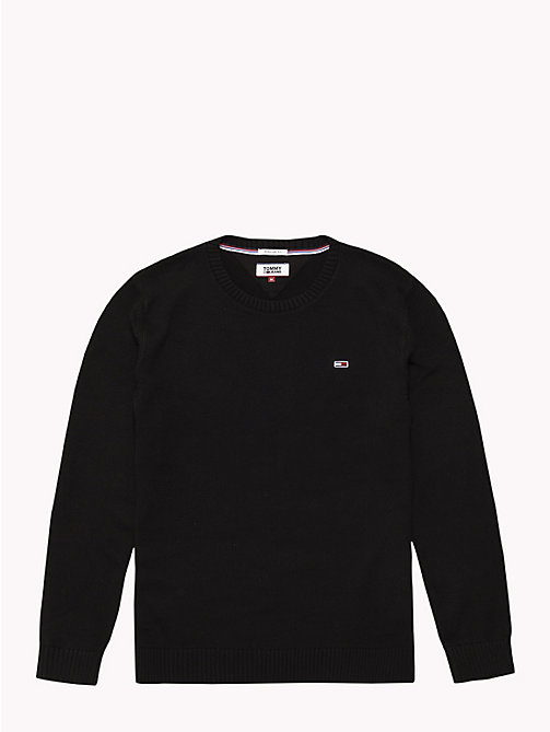TOMMY JEANS Tommy Classics gebreide trui - TOMMY BLACK - TOMMY JEANS Truien - detail image 1