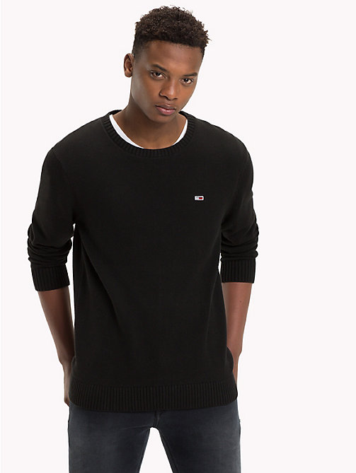 TOMMY JEANS Tommy Classics Knitted Jumper - TOMMY BLACK - TOMMY JEANS Tommy Classics - main image