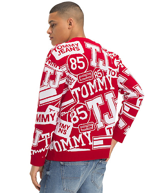 TOMMY JEANS Logo and Flag Print Jumper - LOGO PRINT SAMBA - TOMMY JEANS Knitwear - detail image 1