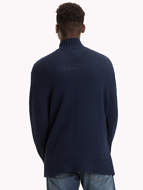 TOMMY JEANS Knitted Monogram Turtleneck Jumper - BLACK IRIS - TOMMY JEANS Knitwear - detail image 1