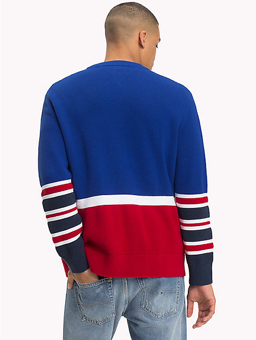 TOMMY JEANS Colour-Block Relaxed Fit Jumper - SURF THE WEB - TOMMY JEANS Knitwear - detail image 1