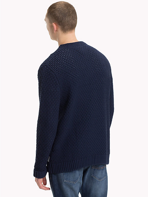 TOMMY JEANS Chunky Knitted Jumper - BLACK IRIS - TOMMY JEANS Knitwear - detail image 1