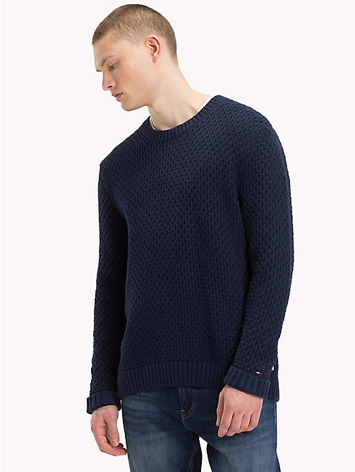 TOMMY JEANS Chunky Knitted Jumper - BLACK IRIS - TOMMY JEANS Knitwear - main image