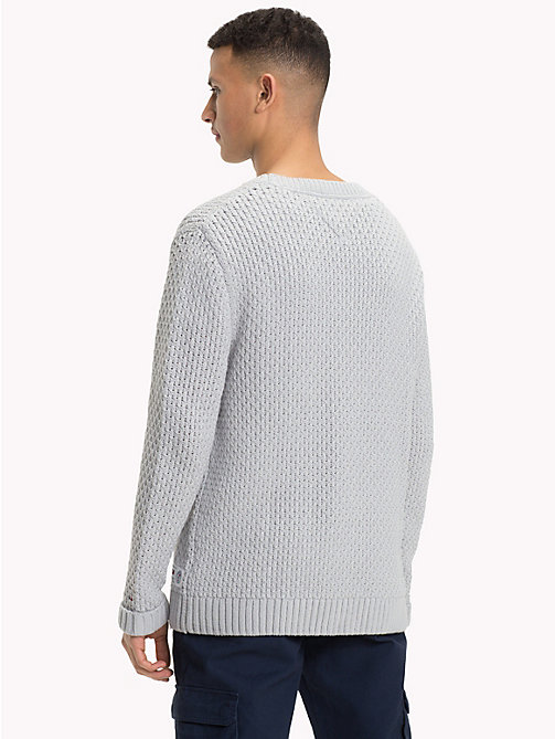 TOMMY JEANS Chunky Knitted Jumper - LT GREY HTR - TOMMY JEANS Knitwear - detail image 1