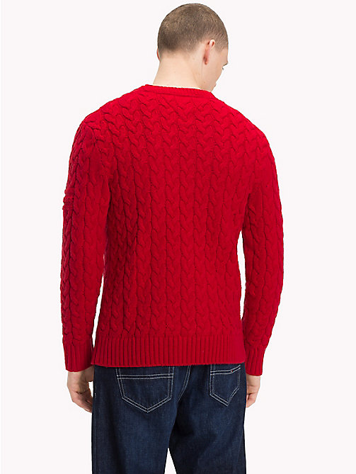 TOMMY JEANS Wool-Blend Cable-Knit Jumper - SAMBA - TOMMY JEANS Sweatshirts & Knitwear - detail image 1