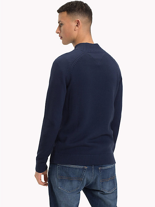 TOMMY JEANS Mock Neck Jumper - BLACK IRIS - TOMMY JEANS Knitwear - detail image 1