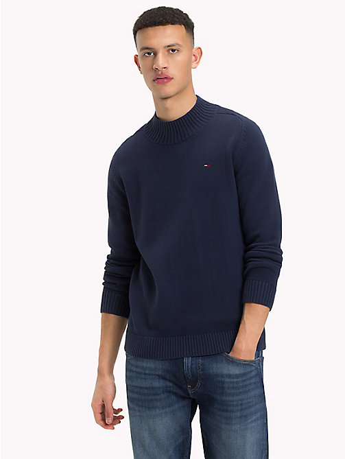 TOMMY JEANS Mock Neck Jumper - BLACK IRIS - TOMMY JEANS Knitwear - main image