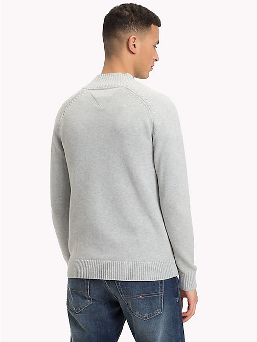 TOMMY JEANS Mock Neck Jumper - LT GREY HTR - TOMMY JEANS Knitwear - detail image 1