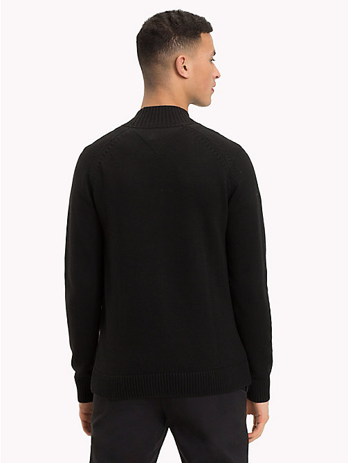 TOMMY JEANS Mock Neck Jumper - TOMMY BLACK - TOMMY JEANS Knitwear - detail image 1