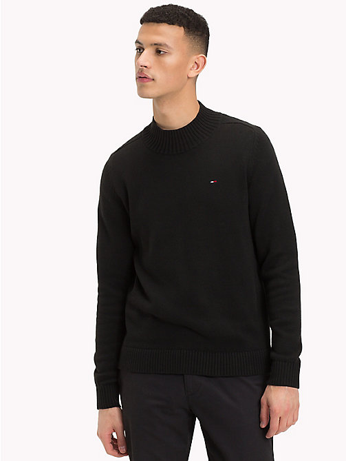 TOMMY JEANS Mock Neck Jumper - TOMMY BLACK - TOMMY JEANS Sweatshirts & Knitwear - main image