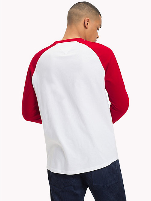 TOMMY JEANS T-shirt baseball Raglan - SAMBA / CLASSIC WHITE - TOMMY JEANS Sustainable Evolution - dettaglio immagine 1