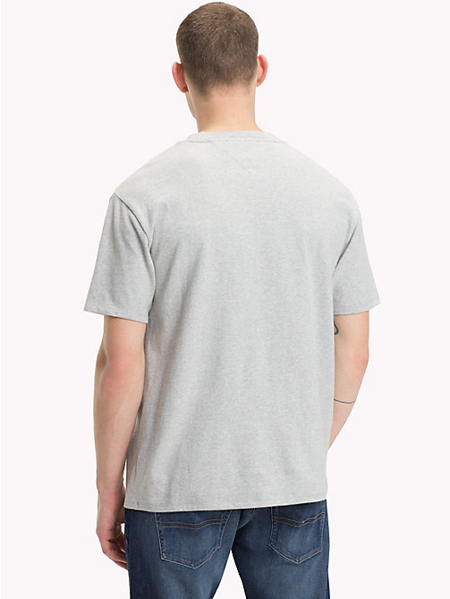 TOMMY JEANS Logo Pocket Cotton T-Shirt - LT GREY HTR - TOMMY JEANS T-Shirts & Polos - detail image 1