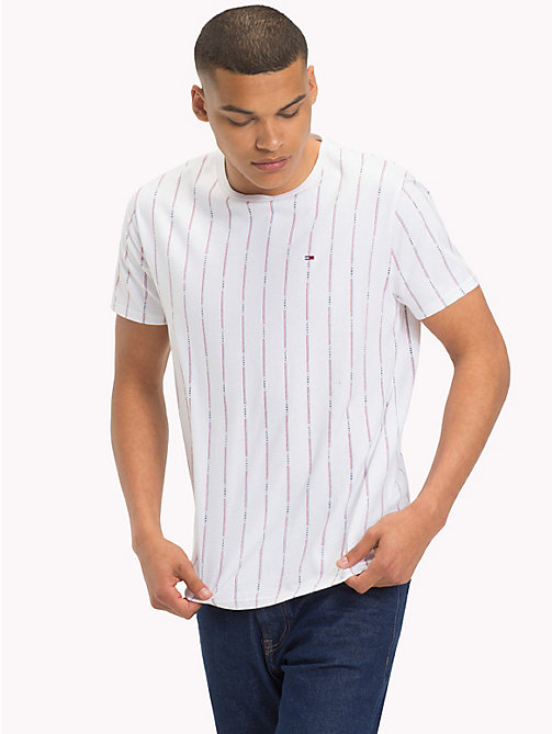 TOMMY JEANS Stripe Baseball T-Shirt - CLASSIC WHITE - TOMMY JEANS T-Shirts & Polos - main image