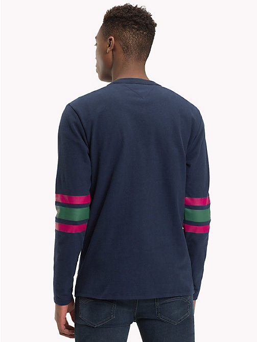 TOMMY JEANS Multi-Colour Stripe Sleeve Top - BLACK IRIS/MULTI - TOMMY JEANS T-Shirts & Polos - detail image 1