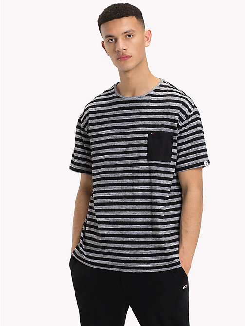 TOMMY JEANS Striped Relaxed Fit T-Shirt - TOMMY BLACK - TOMMY JEANS T-Shirts & Polos - main image