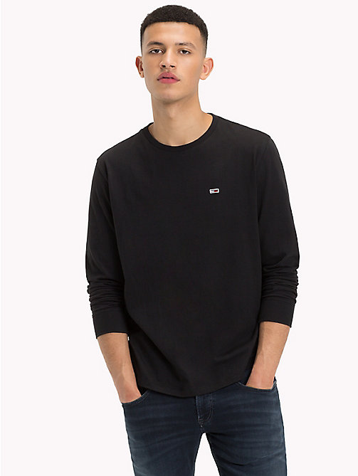 TOMMY JEANS Tommy Classics Long Sleeve T-Shirt - TOMMY BLACK - TOMMY JEANS Tommy Classics - detail image 1
