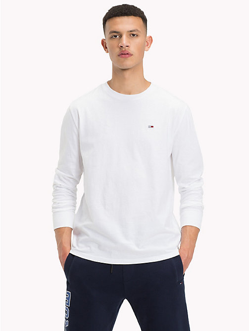 TOMMY JEANS Tommy Classics Long Sleeve T-Shirt - CLASSIC WHITE - TOMMY JEANS Tommy Classics - main image