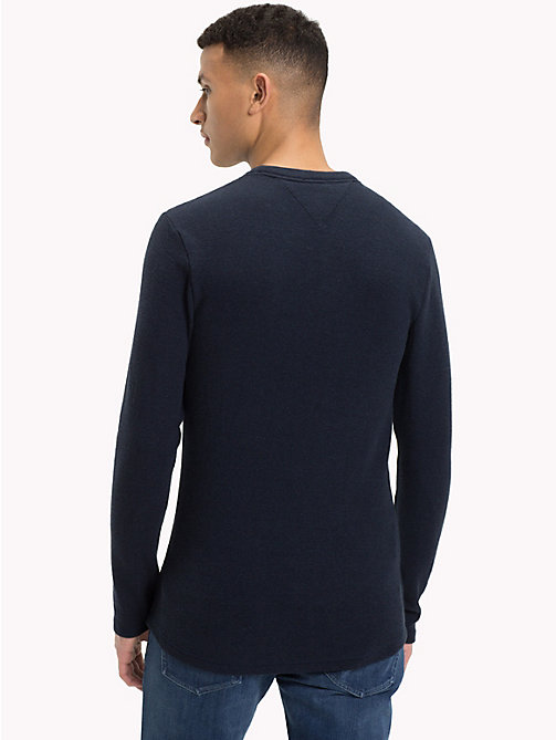 TOMMY JEANS Long Sleeve Slim Fit Top - BLACK IRIS HTR - TOMMY JEANS T-Shirts & Polos - detail image 1