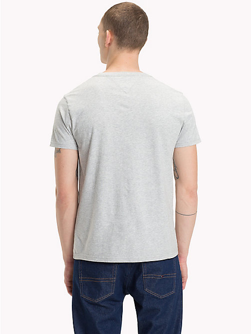 TOMMY JEANS Organic Cotton Logo T-Shirt - LT GREY HTR - TOMMY JEANS Sustainable Evolution - detail image 1