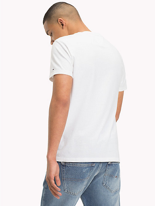 TOMMY JEANS Organic Cotton Logo T-Shirt - CLASSIC WHITE - TOMMY JEANS Sustainable Evolution - detail image 1